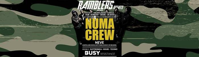 Ramblers.Nights presents Numa Crew | Busy Resistance