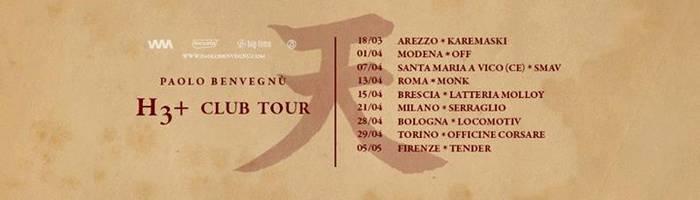 Paolo Benvegnù - H3+ Club Tour / SMAV