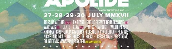 Apolide Festival 2017 - 27/30 Luglio - XIV Edizione