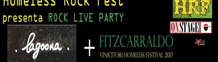 Homeless Rock Fest presenta Lagoona / Fitzcarraldo live