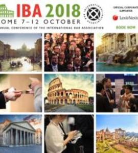 IBA Annual Conference Rome October 2018