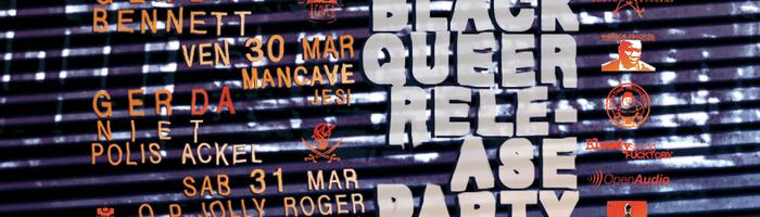 gerda black queer release party w/ bennett dj bruno