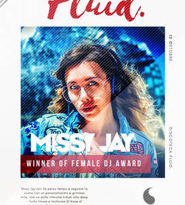 Missy Jay Wins Italian Female DJ Awards performance at Fluid Bergamo