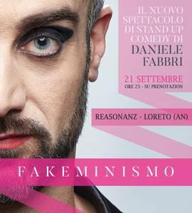 Fakeminismo di e con Daniele Fabbri stand-up al Reasonanz