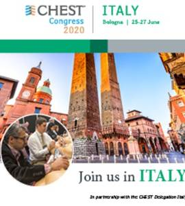 CHEST Congress 2020, Bologna, Italy | 25-27 June 2020
