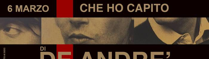 "F. Dragogna / ""Quello che ho capito di De André"" // MIND Studios"