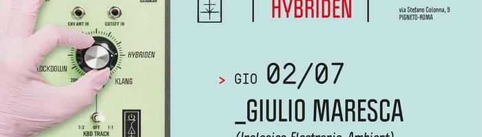 𝗞𝗹𝗮𝗻𝗴 𝗶𝘀𝘁 𝗛𝘆𝗯𝗿𝗶𝗱𝗲𝗻 presents: Giulio Maresca